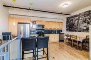 Loft de 75 m² à Montréal cuisine