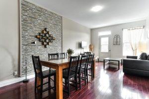 Appartements de 173 m² à Montréal salle à manger