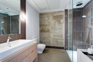Appartement 51 m² à Montréal salle d'eau