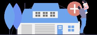 Illustration maison pour investissement immobilier au Canada