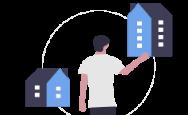 illustration choix entre deux biens immobilier au Canada