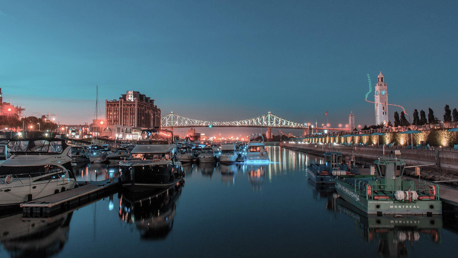 vue nuit fleuve ville québec montréal immobilier