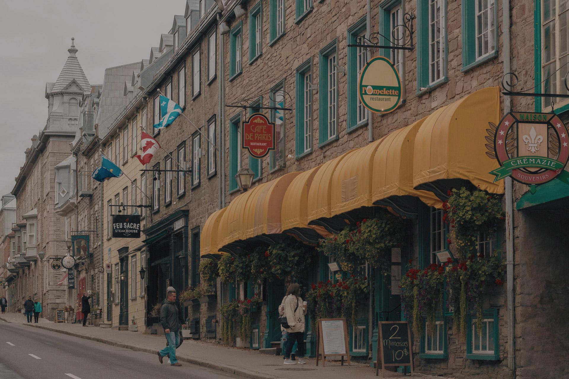 devanture rue Canada immobilier canada