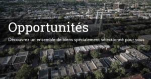 vue aérienne ville opportunités investir au Canada