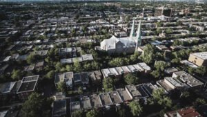vue aérienne ville investissement immobilier Canada